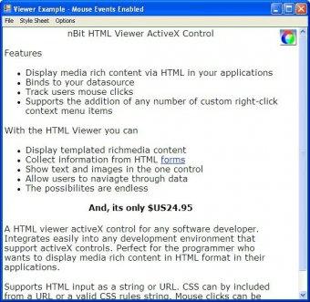 nBit HTML Viewer Control Download Free Version