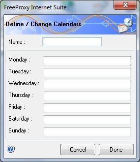 Calendars Screen