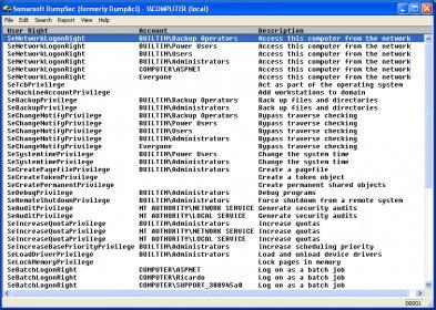 dumpsec software