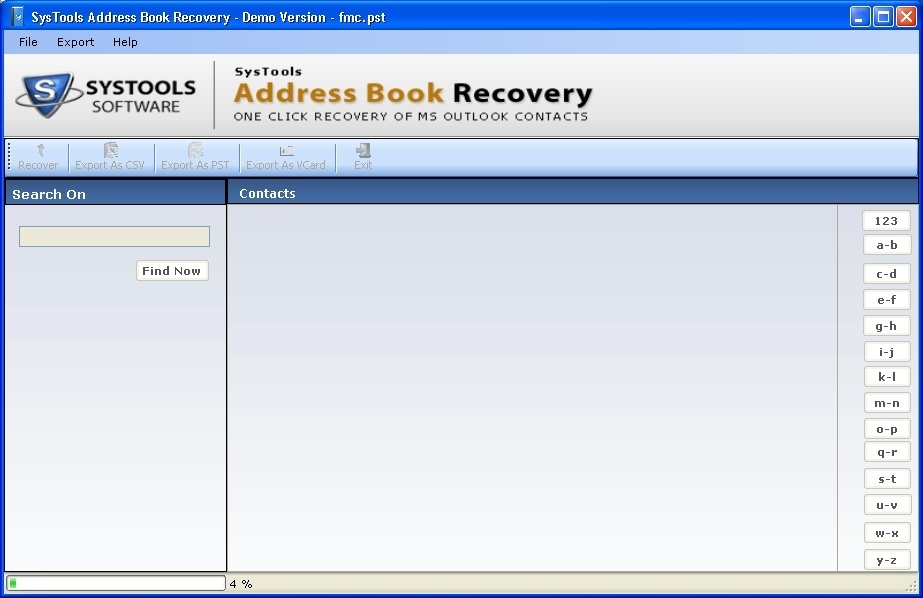 Main Interface - Recovery in Progress