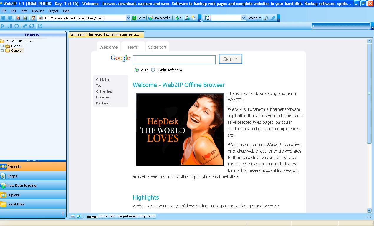 WEBZIP 7.0 TÉLÉCHARGER