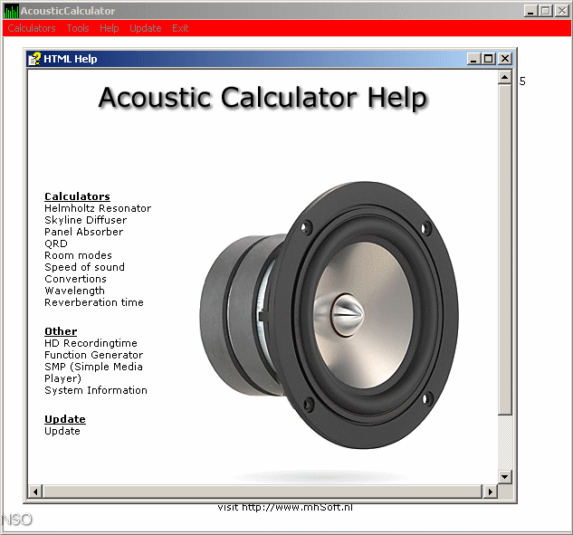 AcousticCalculator Download (AcousticCalculator exe)