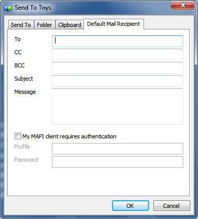 Default Mail Recipient