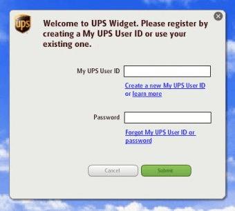 ups widget main panel