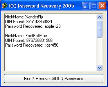 ICQ Password Recovery 2005 7 1 Download (Free) - ICQ exe