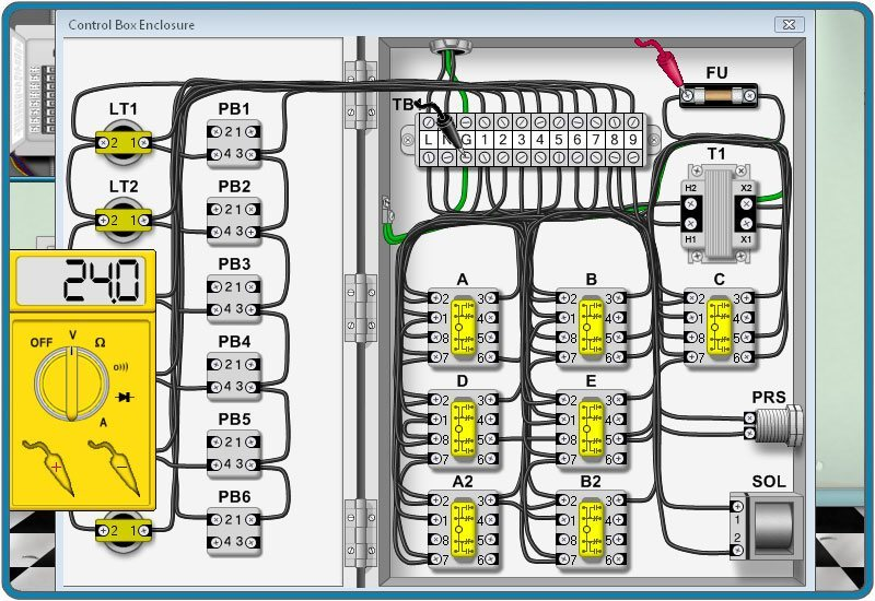 Door Lock Circuit Simulator.