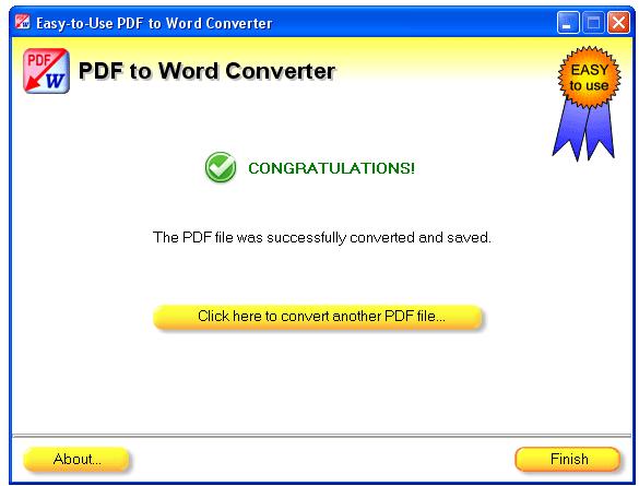 conversion complete