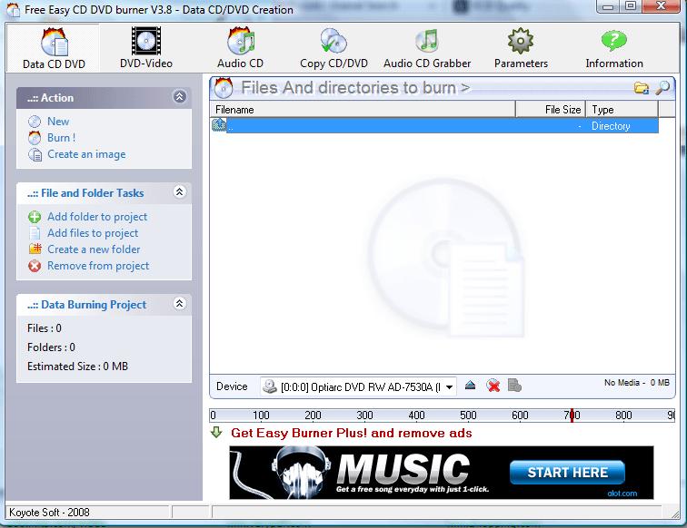 free easy cd dvd burner 5.1 0