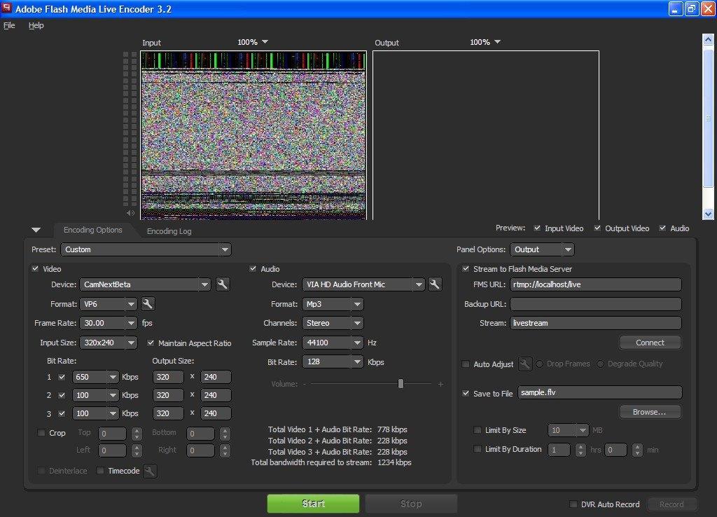 flash media live encoder 3.1 free download