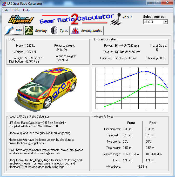 LFS Gear Ratio Calculator 2 5 Download (Free)