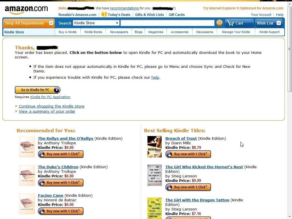 Buying an E-book