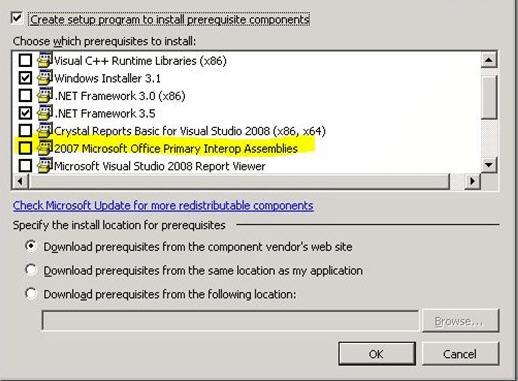 Microsoft Office 2003 Primary Interop Assemblies