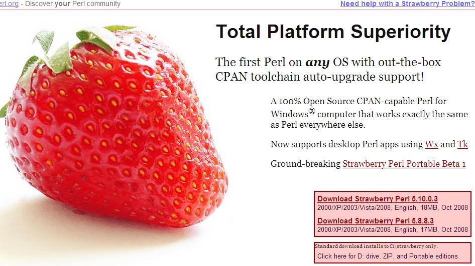 strawberry perl 5.10