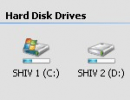 Icon view of Drives