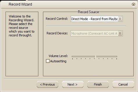 Record wizard