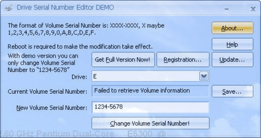 Drive Serial Number Editor Download - It can modify your
