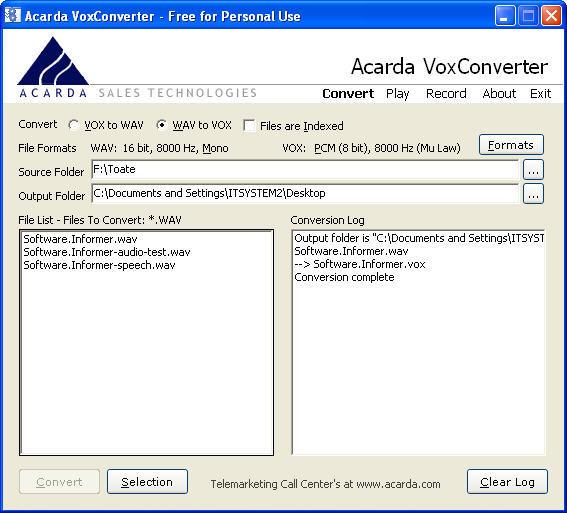 Acarda VoxConverter  Get the software safe and easy
