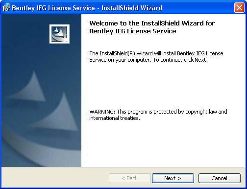 Bentley IEG License Service Download - Central license