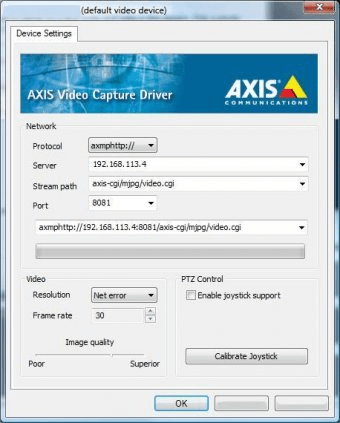 AXIS MJPEG CAPTURE WINDOWS XP DRIVER DOWNLOAD