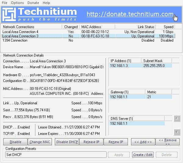 Technitium MAC Address Changer 6 0 Download (Free) - TMAC EXE