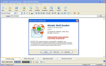 Atomic Mail Sender 7 2 Download (Free trial