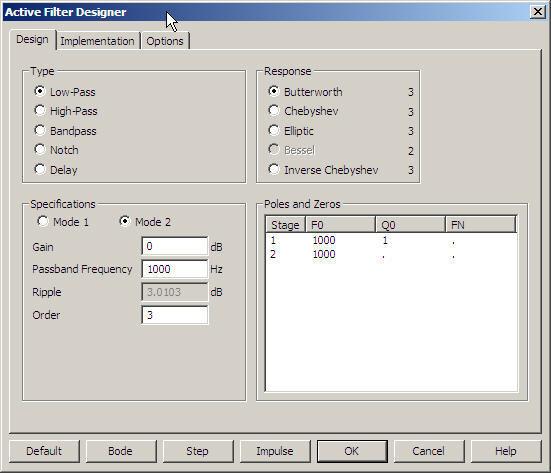 Active filter designer