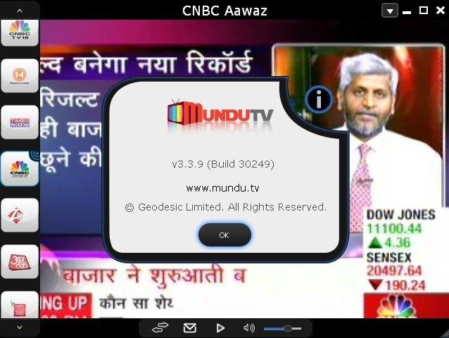 Mundu TV Main Window