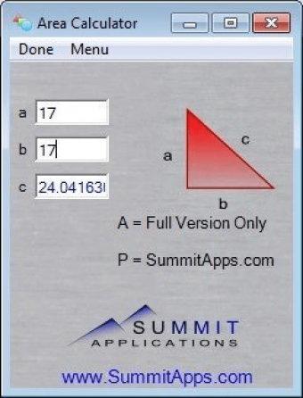 Area Calculator 1 0 Download (Free trial) - Area Calculator exe
