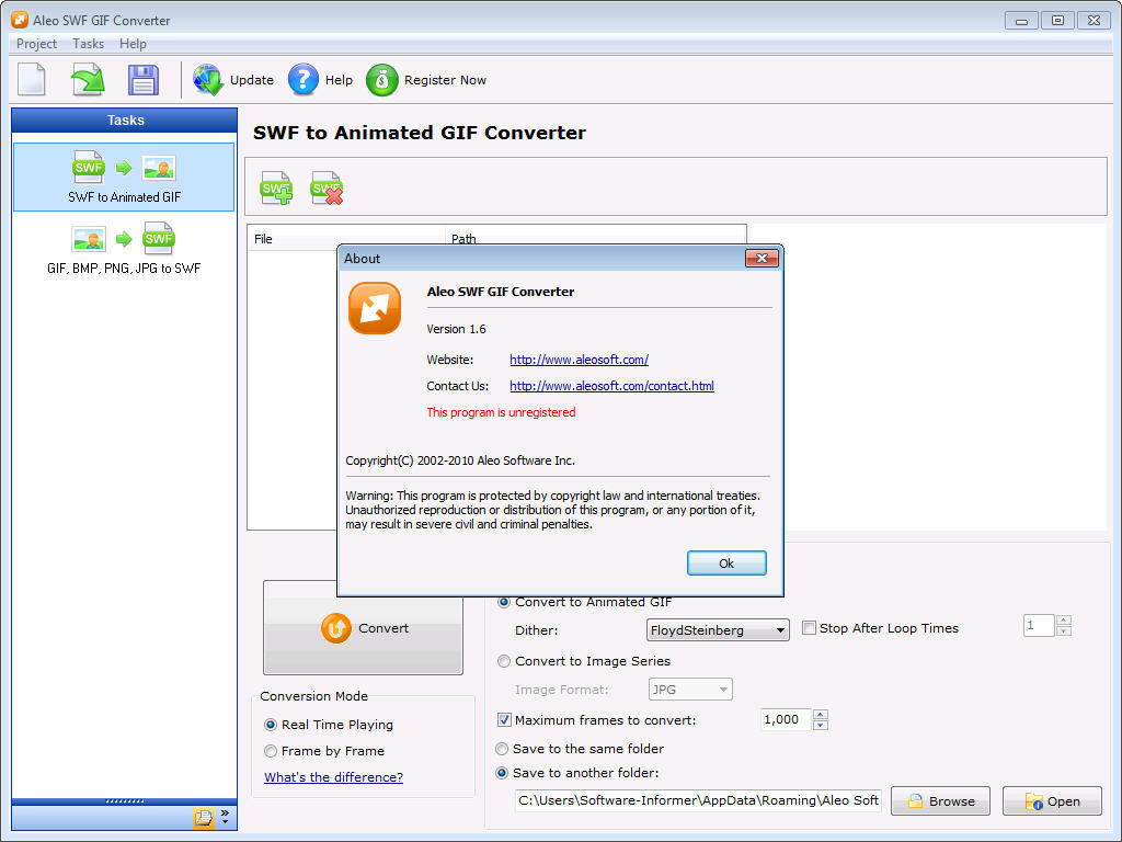 aleo swf gif converter 1.3