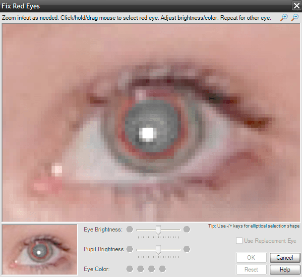 Fix red eyes