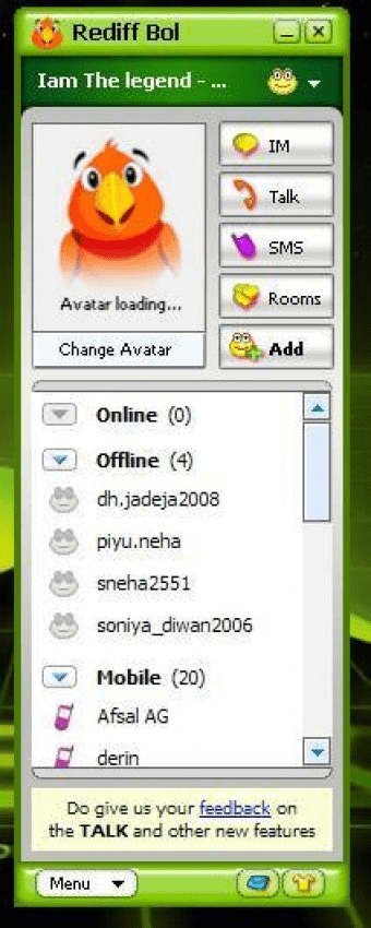 Free download rediff bol messenger latest version.