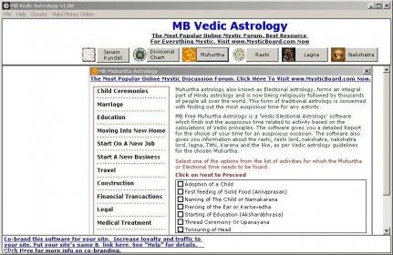 MB Vedic Astrology Download Free Version (MBFreeVedicAstrology exe)