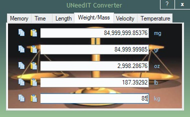 Weight and Mass Units