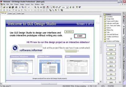 GUI Design Studio Pro 4 1 Download (Free trial) - GUIDesignStudio exe