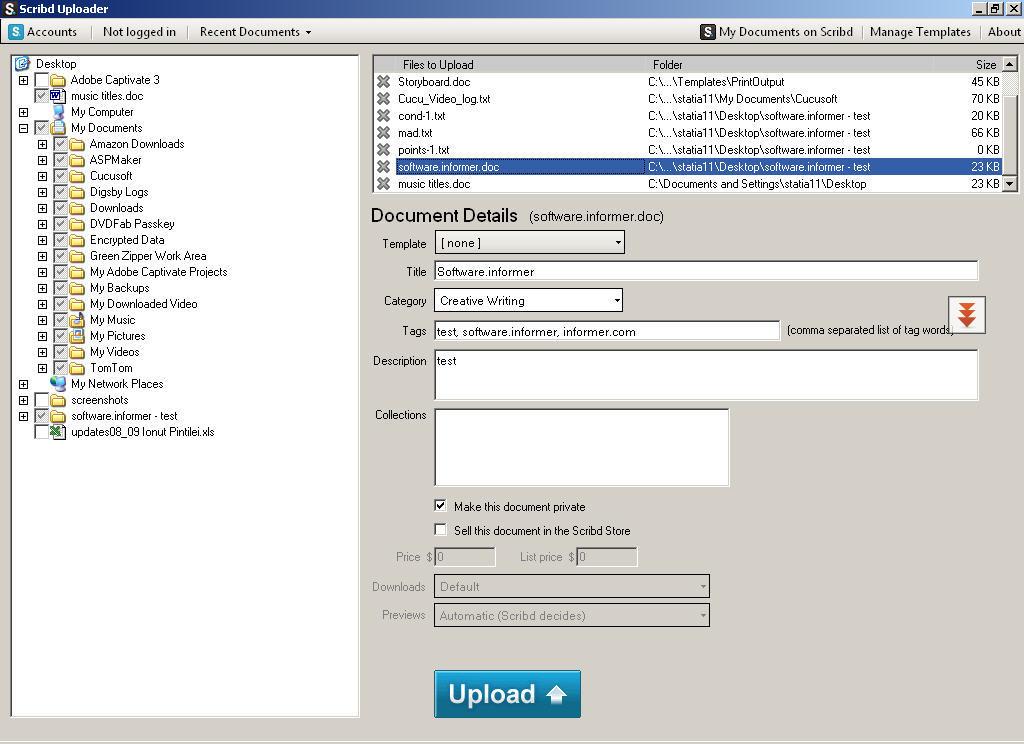 Scribd Uploader 1 0 Download (Free) - ScribdUploader exe