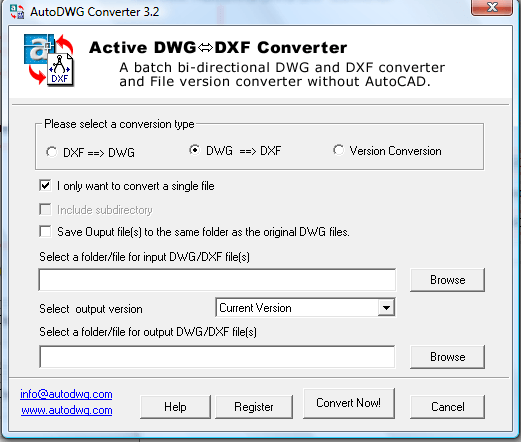 AutoDWG DWG DXF Converter  Get the software safe and easy