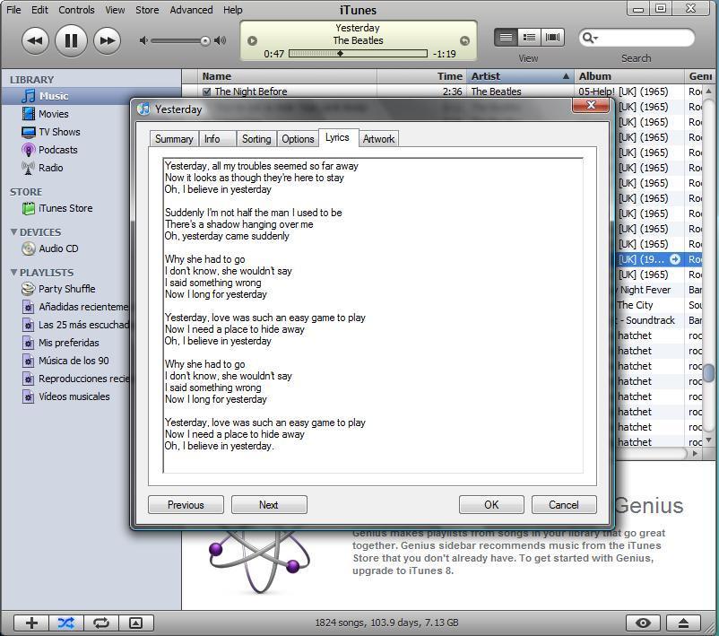 Lyrics Info