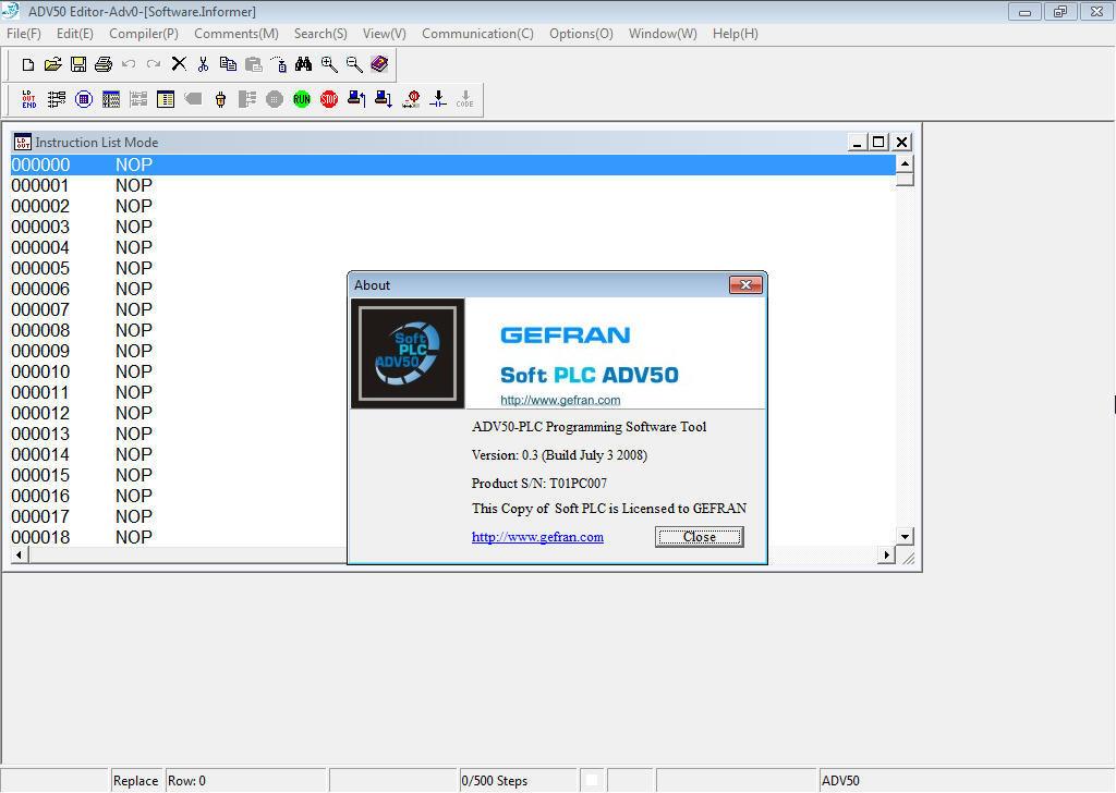 Soft PLC ADV50 Download - Software designed for the Inverter