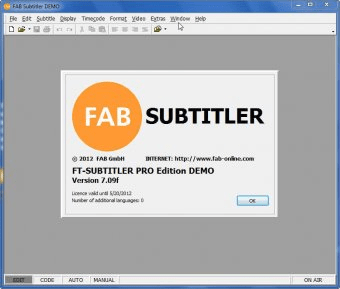 FAB Subtitler 7 0 Download (Free trial) - sttwin exe