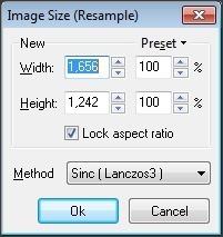 Image Resize Window