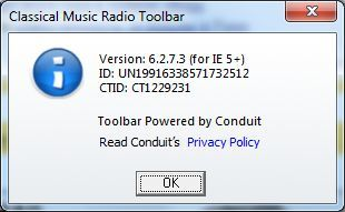About Classical Music Radio Toolbar