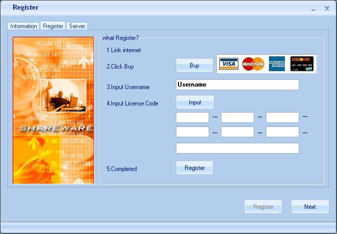 Registration Window