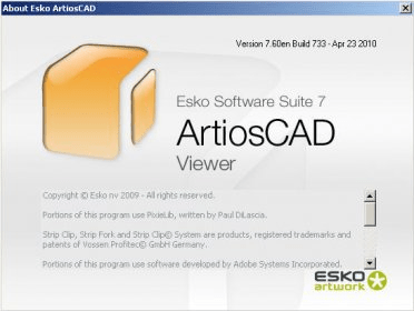 Esko ArtiosCAD Viewer 7 6 Download (Free) - artioscad exe