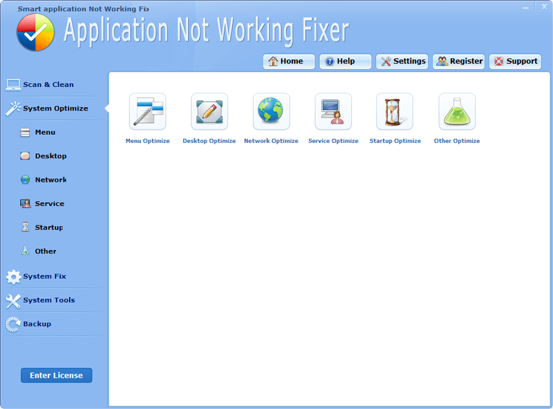 application not working
