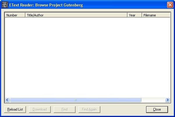 Project Gutenberg Browser