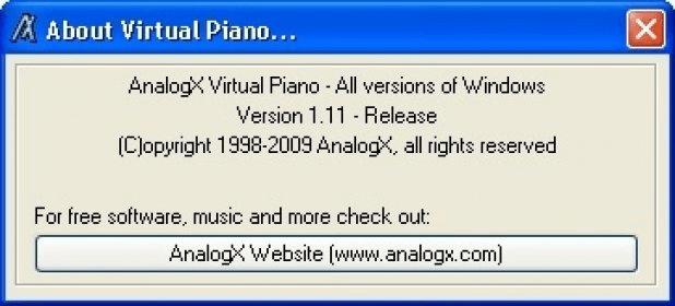 AnalogX Virtual Piano 1 1 Download (Free) - vpiano exe