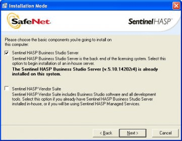 Sentinel HASP Business Studio Server - Software Informer  Is used