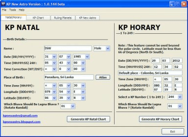 KP New Astro Download - Software designed for astrological