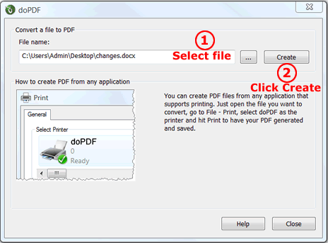 doPDF printer 6 0 Download (Free) - dopdf exe
