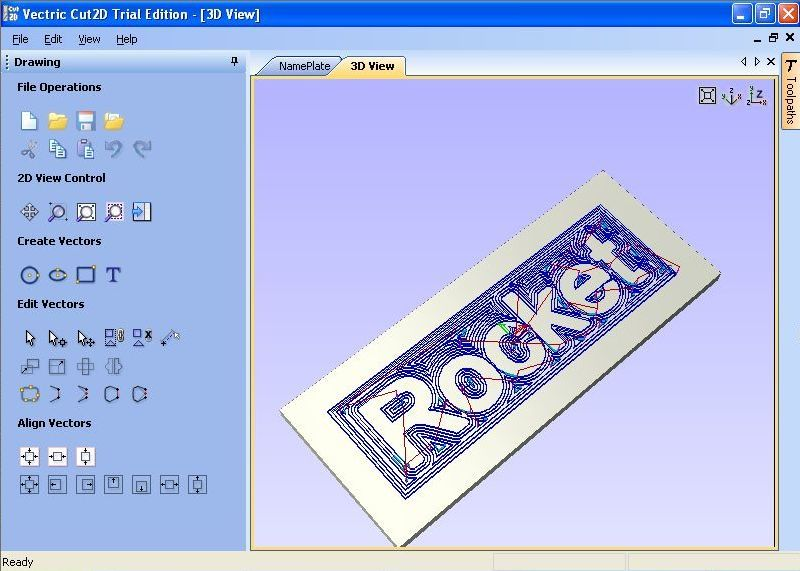 NamePlate 3D view